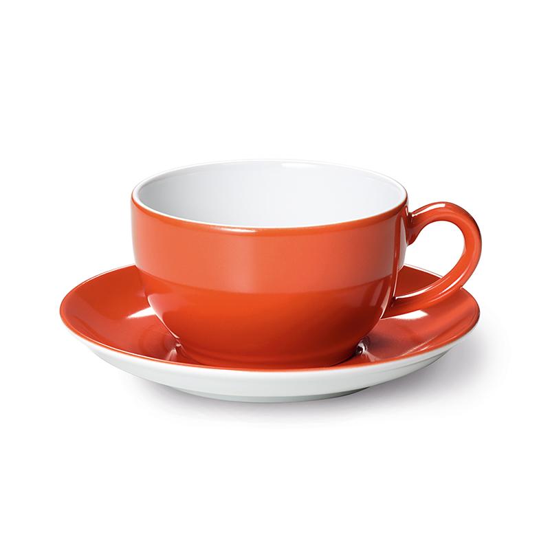 Cappuccino-Obertasse 0,30 l Solid Color Koralle Dibbern