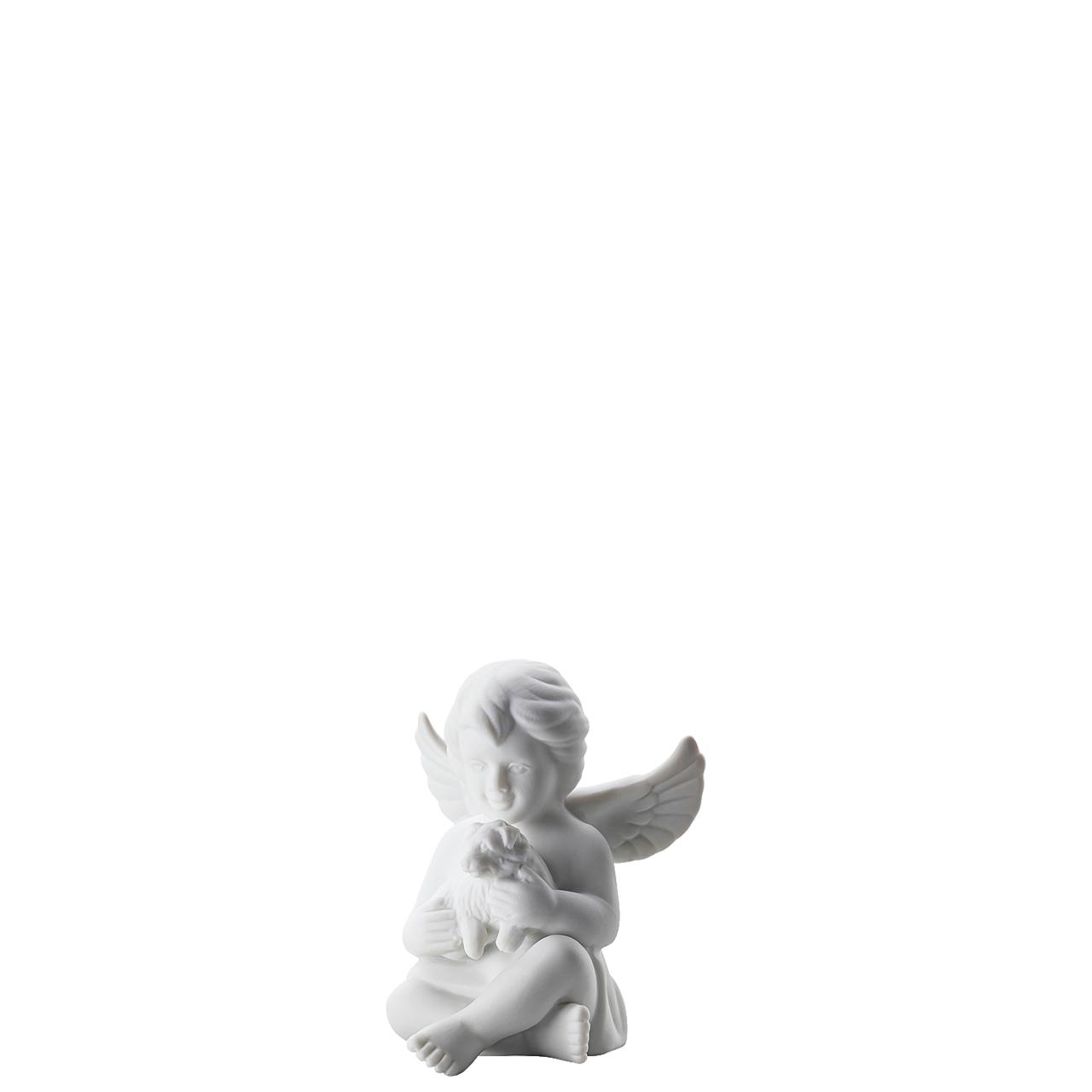 Engel mit Hund Engel klein Weiss matt Rosenthal