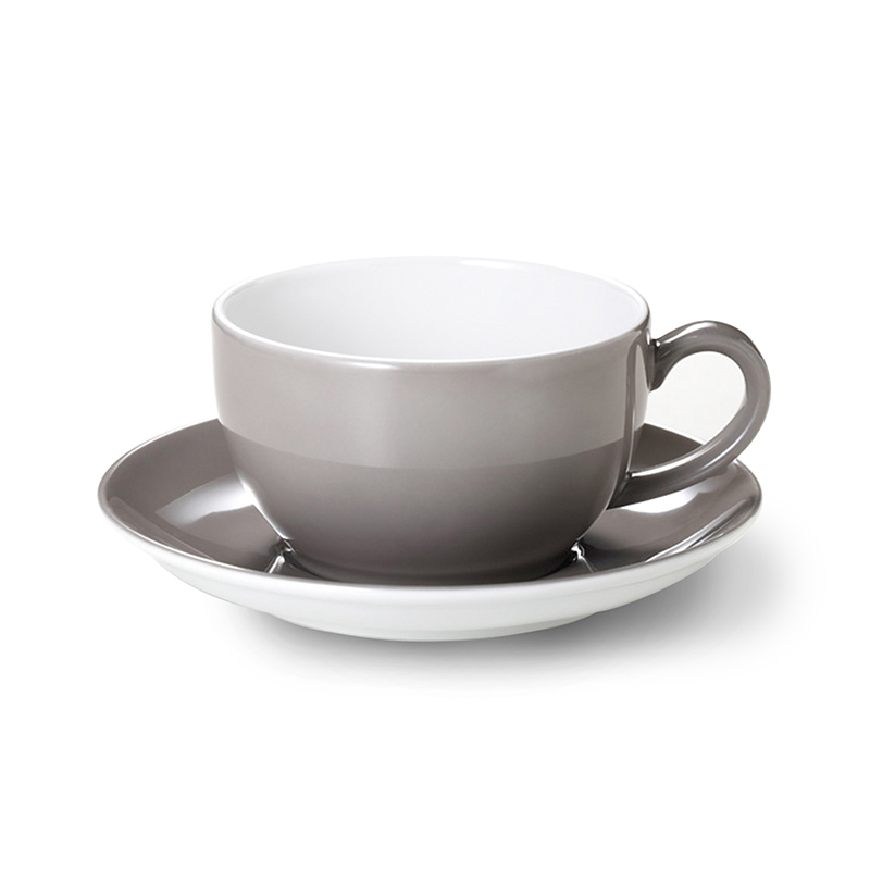 Cappuccino-Untertasse Solid Color Kiesel Dibbern