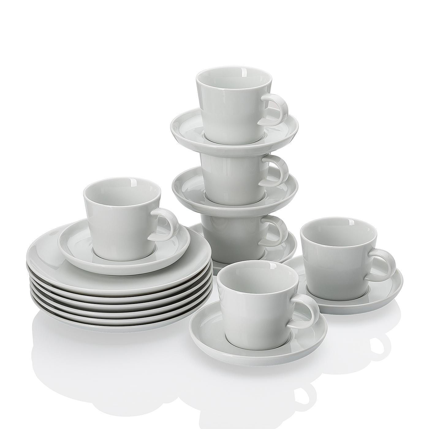 Kaffeeset 18-tlg. Cucina-Basic ROK weiss Arzberg