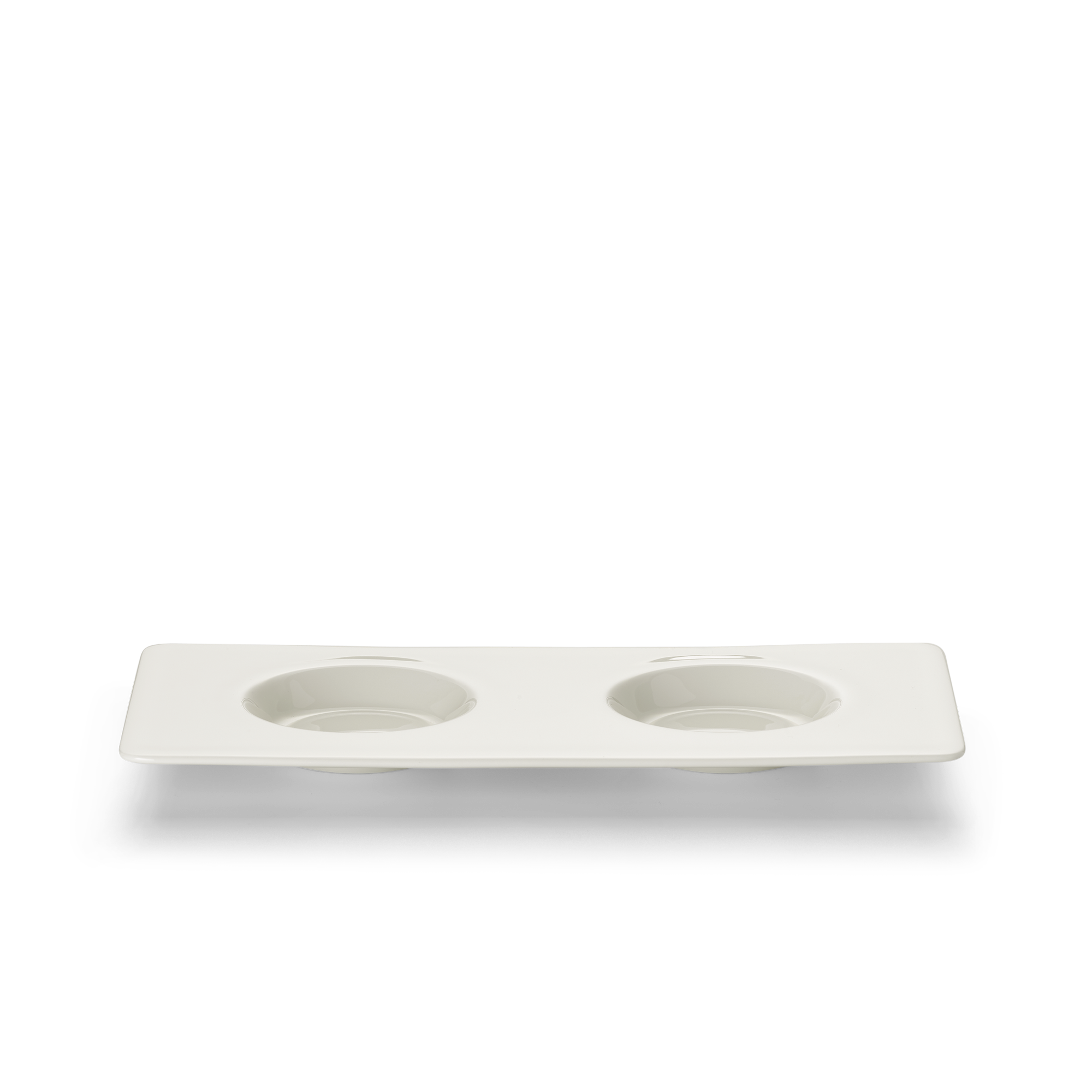 Tablett 12x25 cm mit 2 Spiegeln Fine Bone China Konisch-Zylindrisch Weiss Dibbern