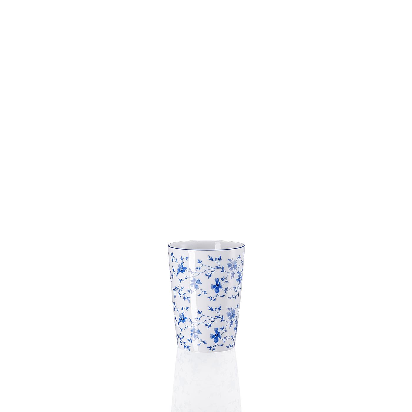 Becher ohne Henkel Form 1382 Blaublüten Arzberg