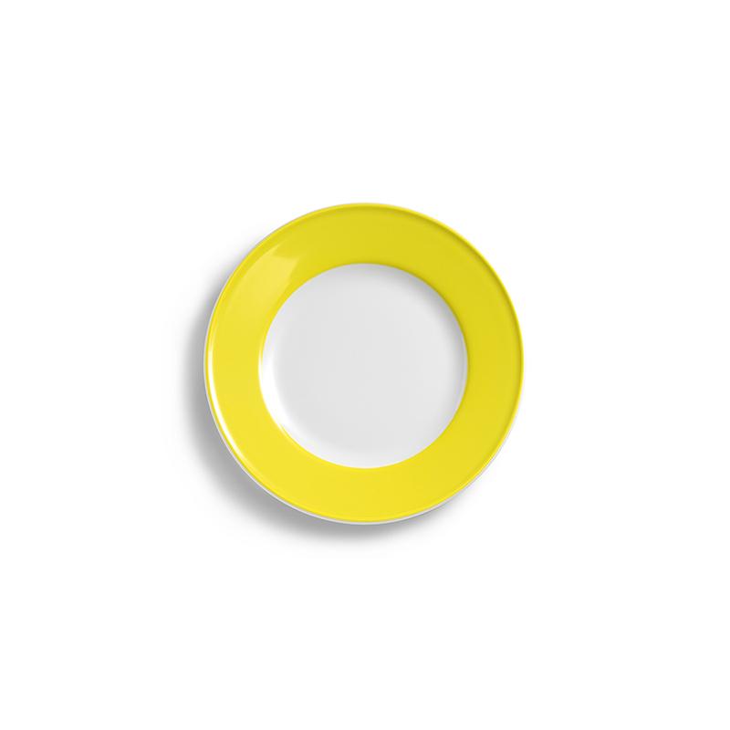 Teller flach 17 cm Fahne Solid Color Zitrone Dibbern