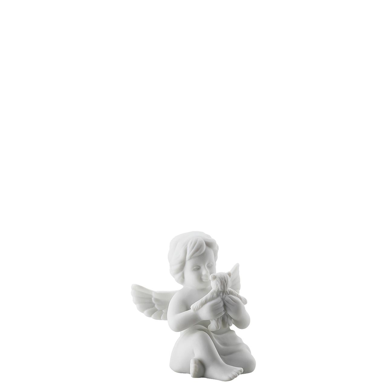 Engel mit Teddybär Engel klein Weiss matt Rosenthal