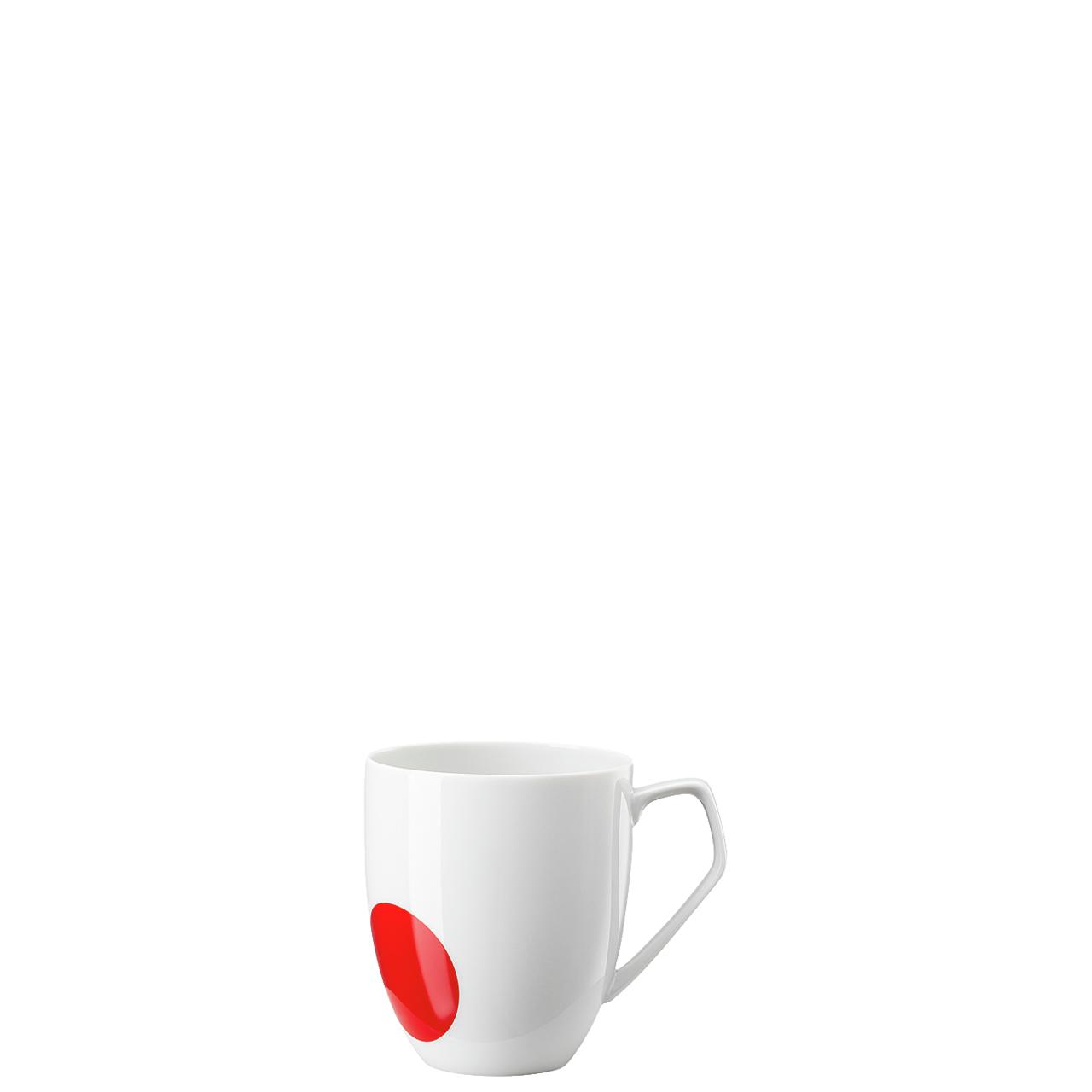 Becher mit Henkel  TAC Gropius Stripes 2.0 Punkt rot Rosenthal Studio Line