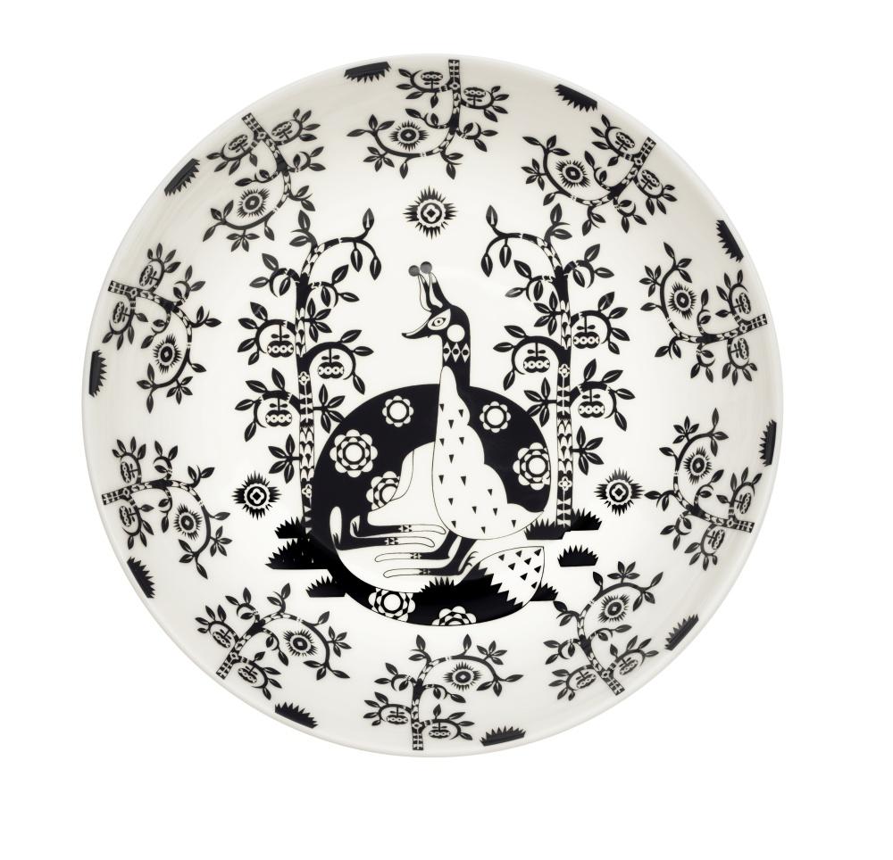 Teller Tief - 22 cm - Deco Schwarz Taika Iittala
