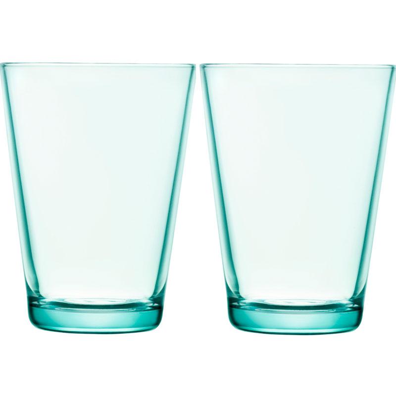 Glass - 400 ml – Wassergrün - 2 Stück Kartio Iittala