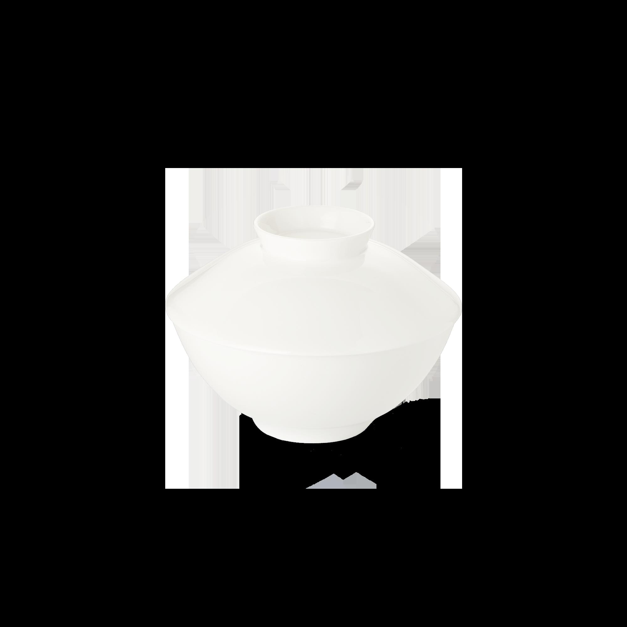Deckel für Suppenschale 11,5 cm Fine Bone China Asia Line Weiss Dibbern