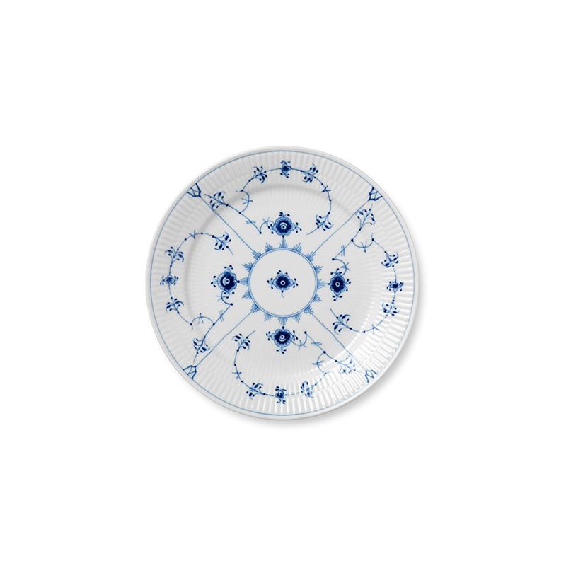 Speiseteller - 25 cm Blue Fluted Plain Royal Copenhagen
