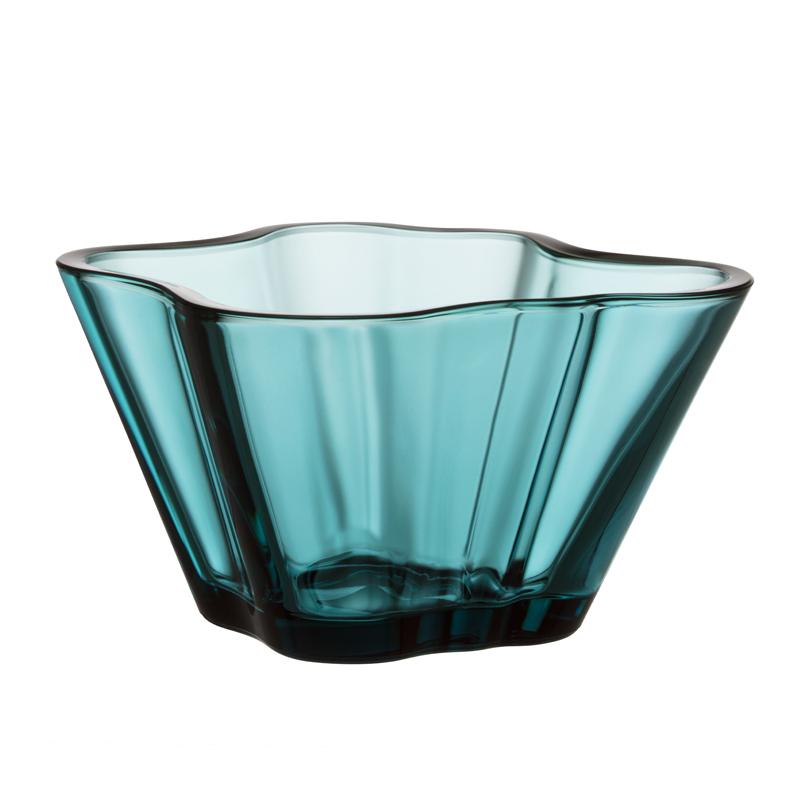 Vase – 7,5 cm - Seeblau Aalto Iittala