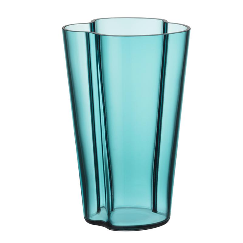 Vase – 22 cm - Seeblau Aalto Iittala