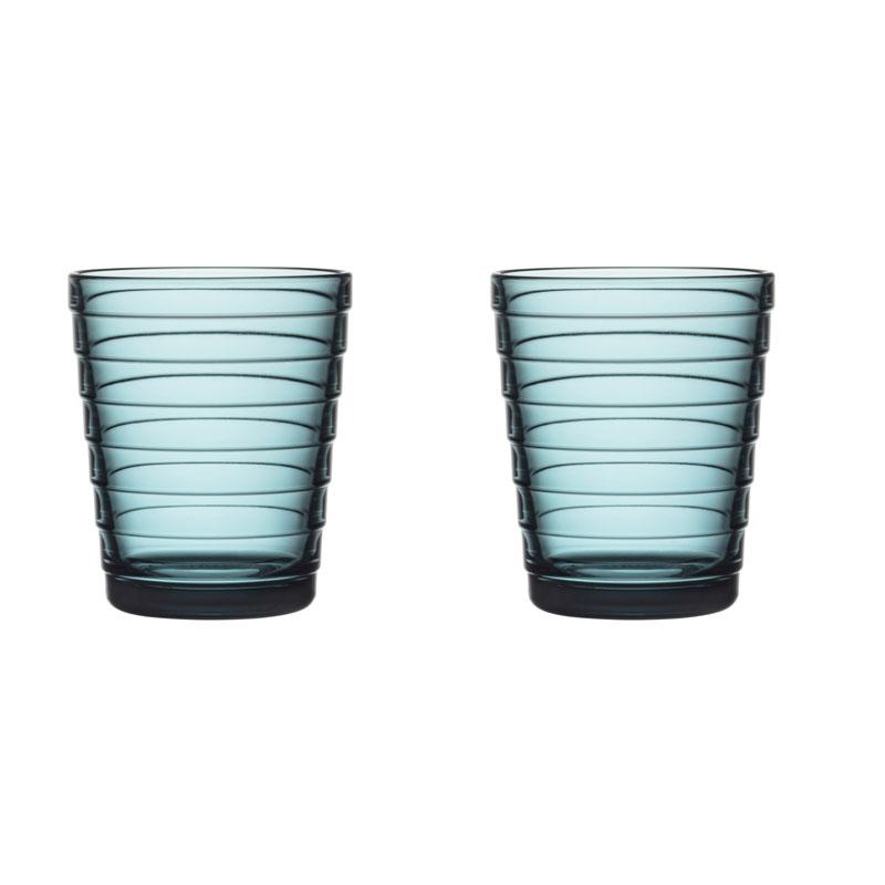 Glass – 220 ml - Seeblau - 2 Stück Aino Aalto Iittala