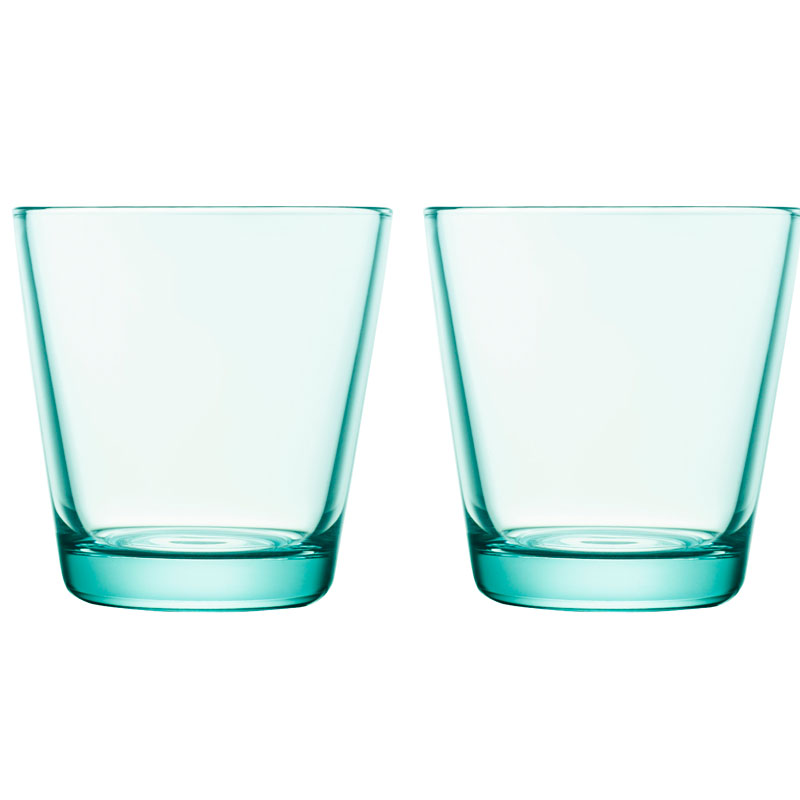 Glass - 210 ml – Wassergrün - 2 Stück Kartio Iittala