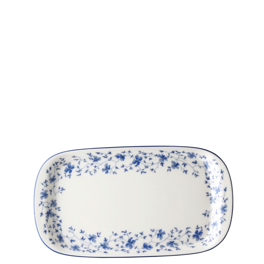 Milch-/Zucker-Tablett Form 1382 Blaublüten Arzberg