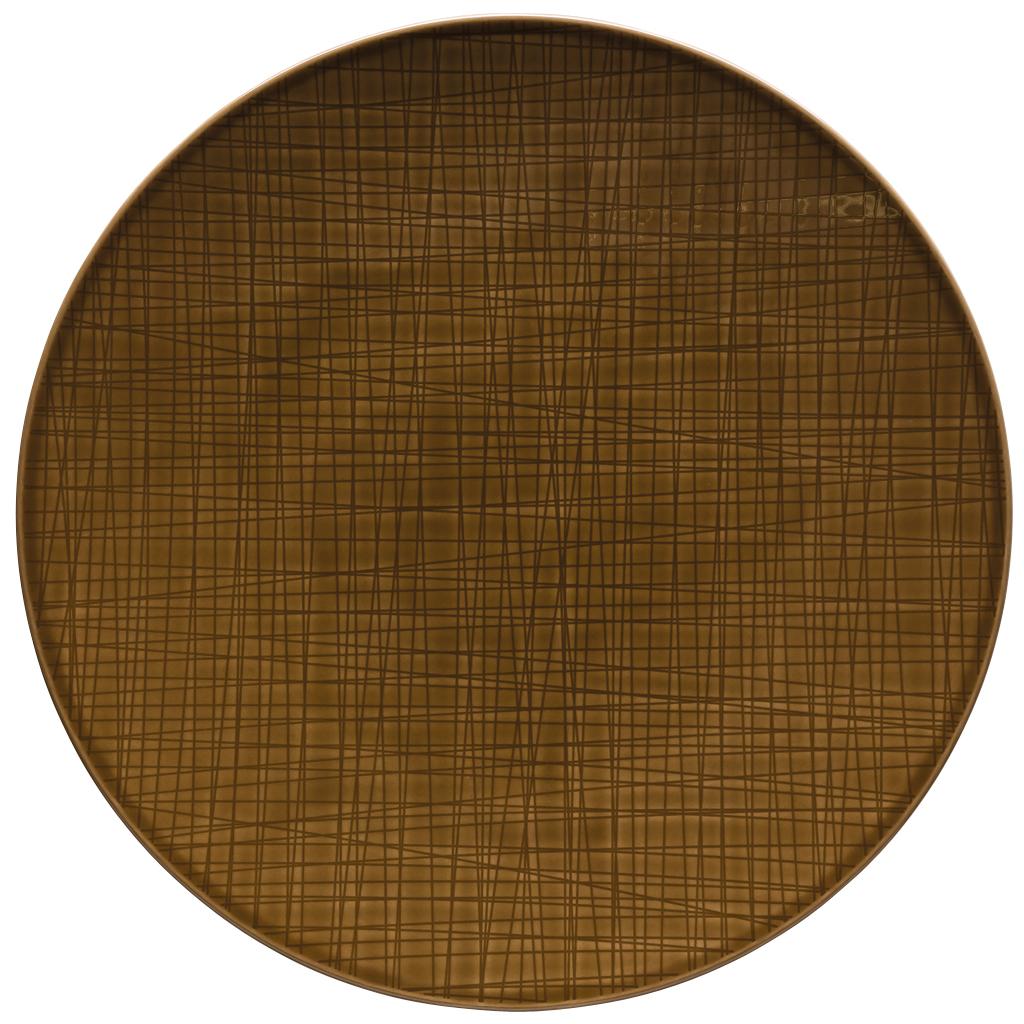Teller flach 33 cm Mesh Colours Walnut Rosenthal