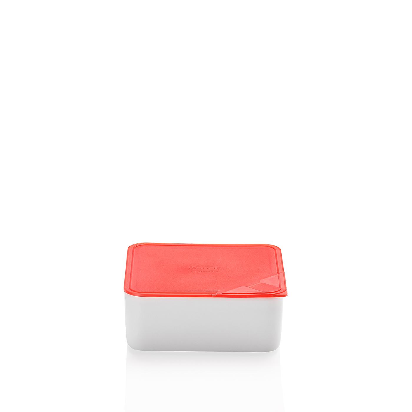 Frischebox 15x15 flach Küchenfreunde Kunststoff rot Arzberg