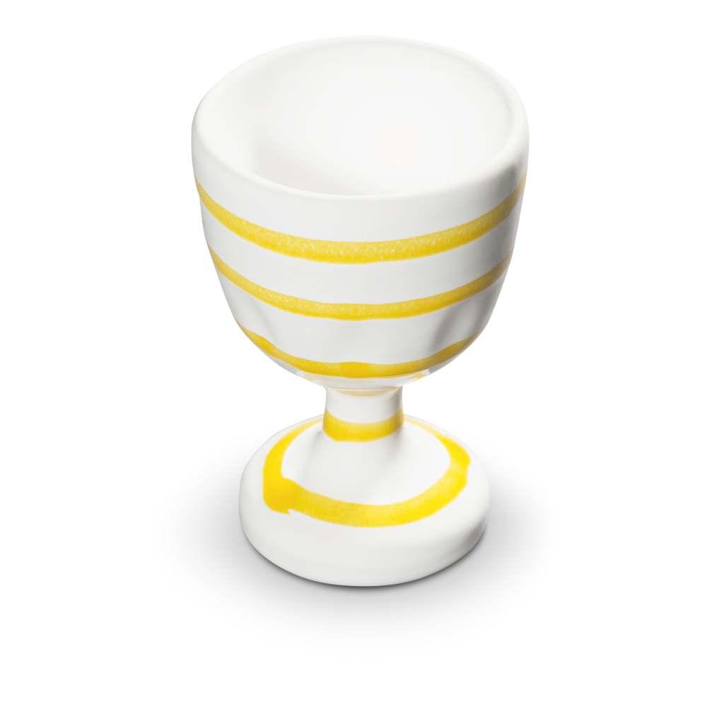 Eierbecher (H: 7,5 cm) Gelbgeflammt Gmundner Keramik