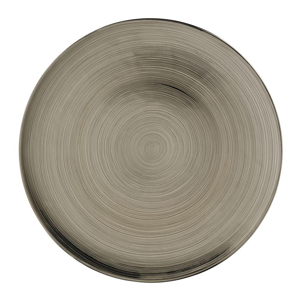 Platzteller 33 cm Platin titanisiert TAC Gropius Stripes 2.0 Rosenthal Studio Line