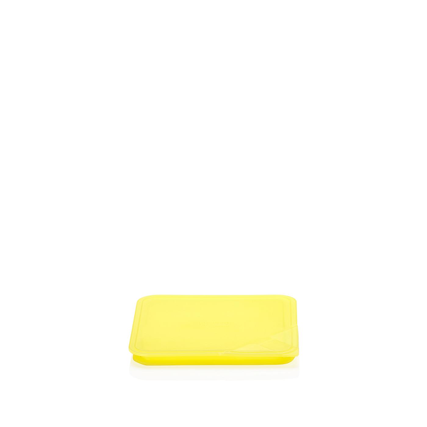 Aromadeckel quadratisch 15 cm Küchenfreunde Kunststoff gelb Arzberg