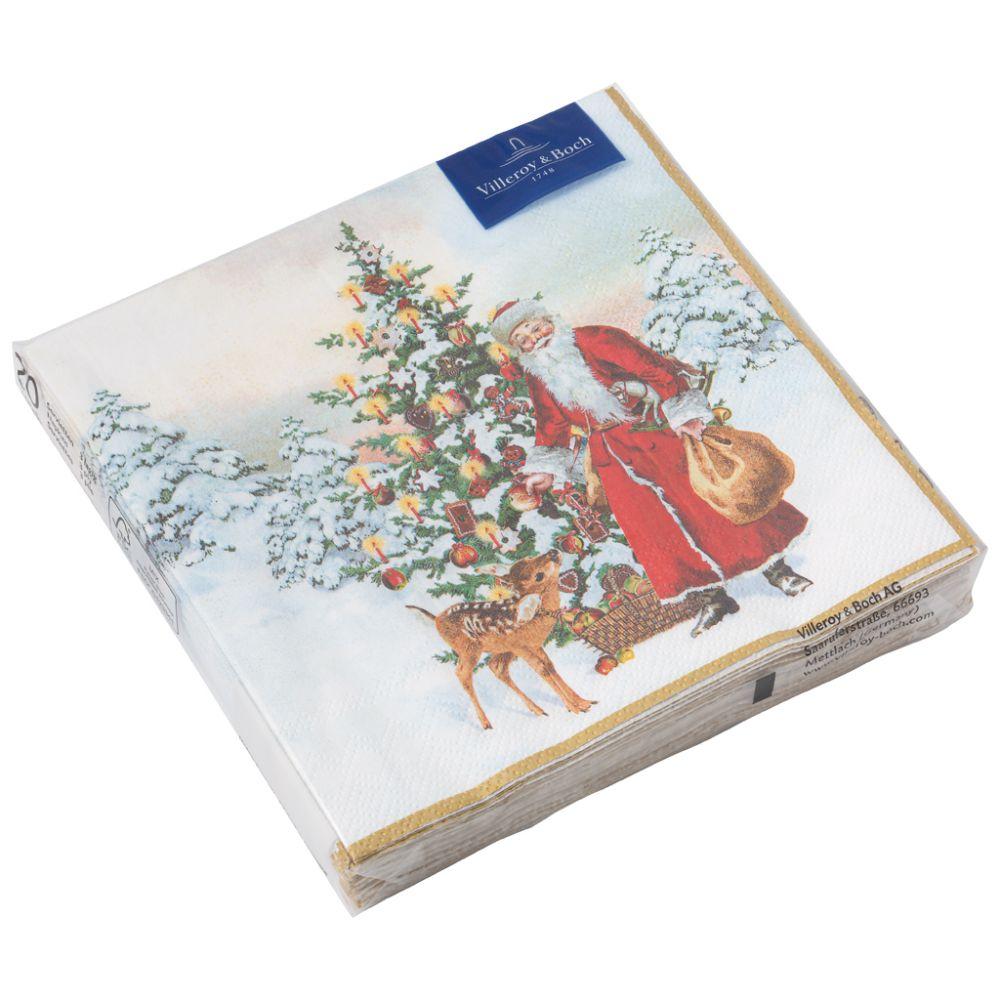 C-Serviette Nikolaus mit Tannenbaum 25x2 Winter Specials Villeroy und Boch
