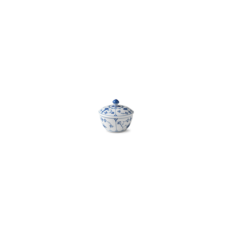 Zuckerdose mit Deckel - 150 ml Blue Fluted Plain Royal Copenhagen