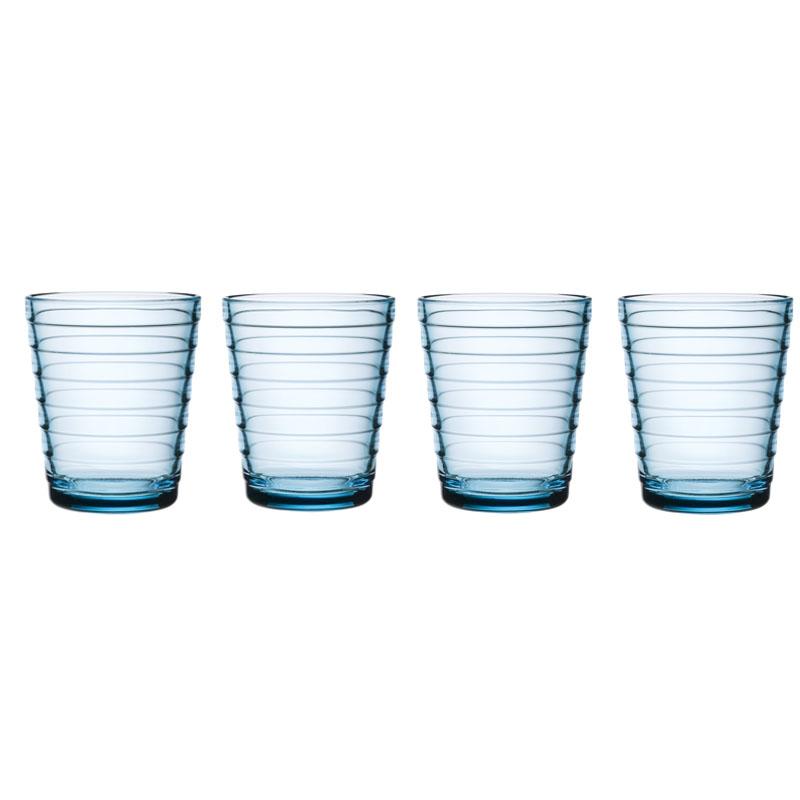 Glas - 220 ml - Hellblau - 4 Stück Aino Aalto Iittala