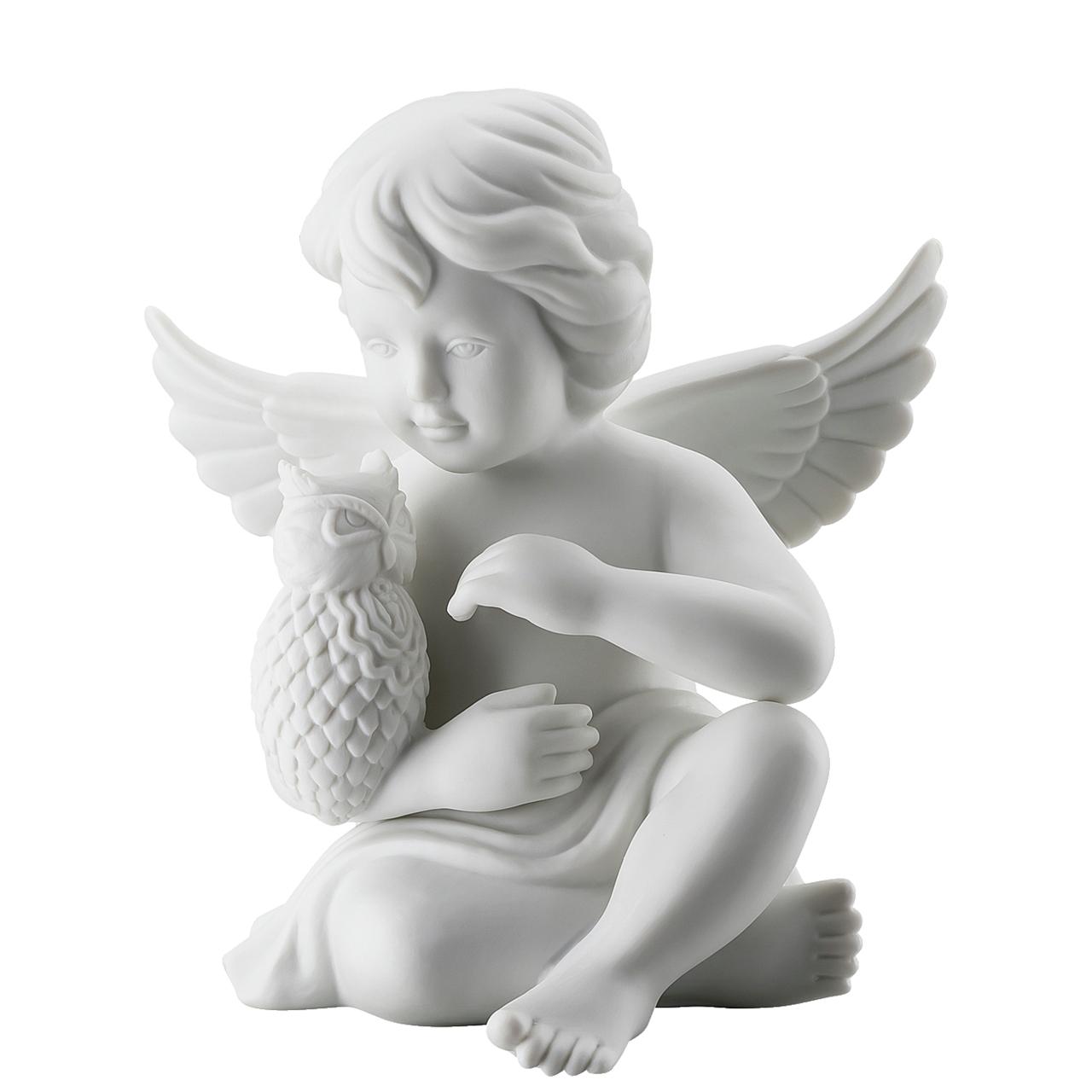 Engel mit Eule Engel groß Weiss matt Rosenthal