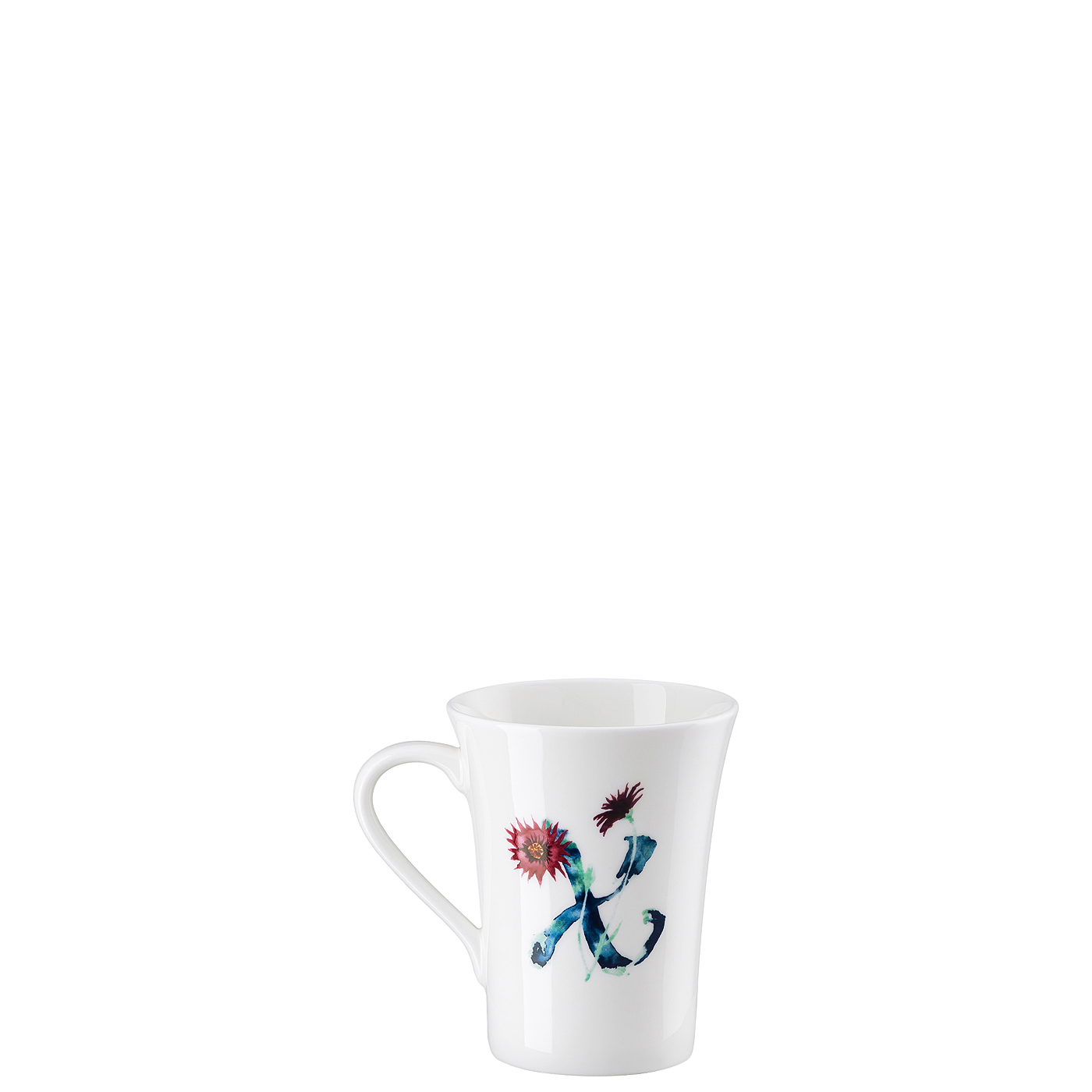 Becher mit Henkel Flower Alphabet X-Xerathemum annuum Hutschenreuther
