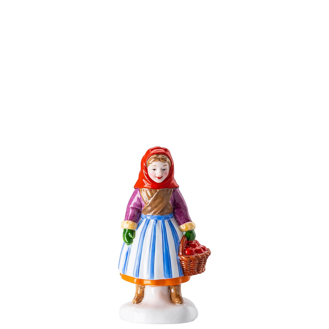 Obstfrau Figuren Weihnachtsbäckerei Hutschenreuther