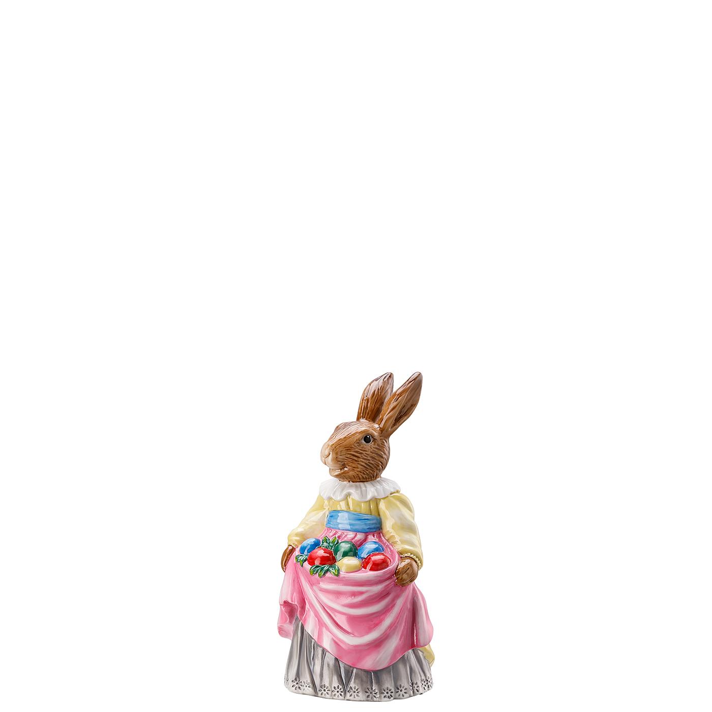 Hasenfrau mit Eiern Hasenfiguren Dekoriert Hutschenreuther