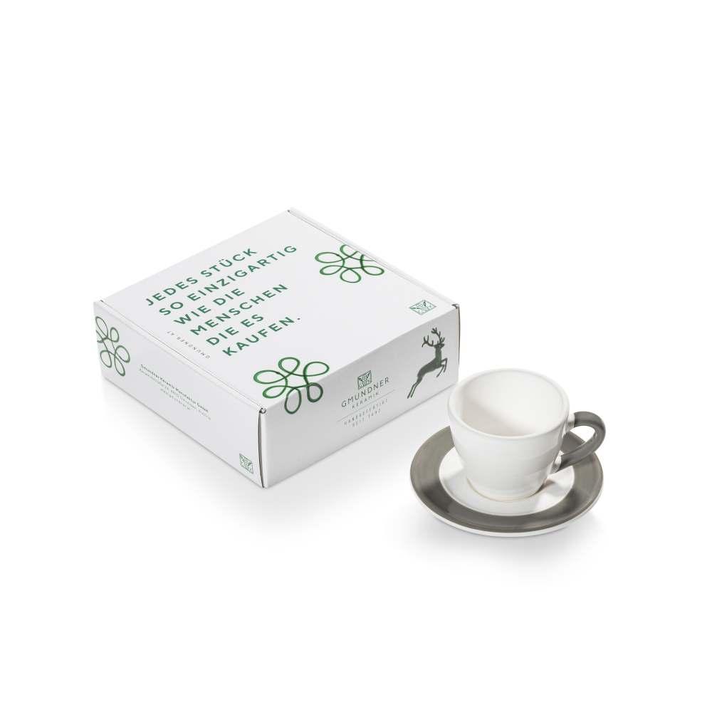 Espresso f.Dich/2tlg.Geschenkk. Variation Grau Gmundner Keramik