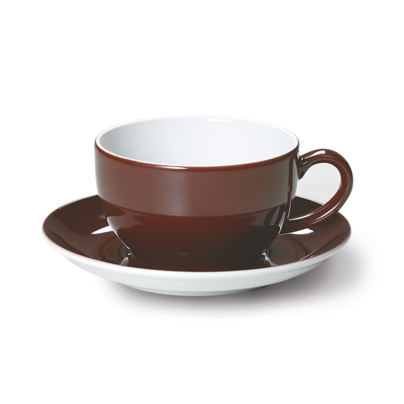 Cappuccino-Obertasse 0,30 l Solid Color Kaffeebraun Dibbern