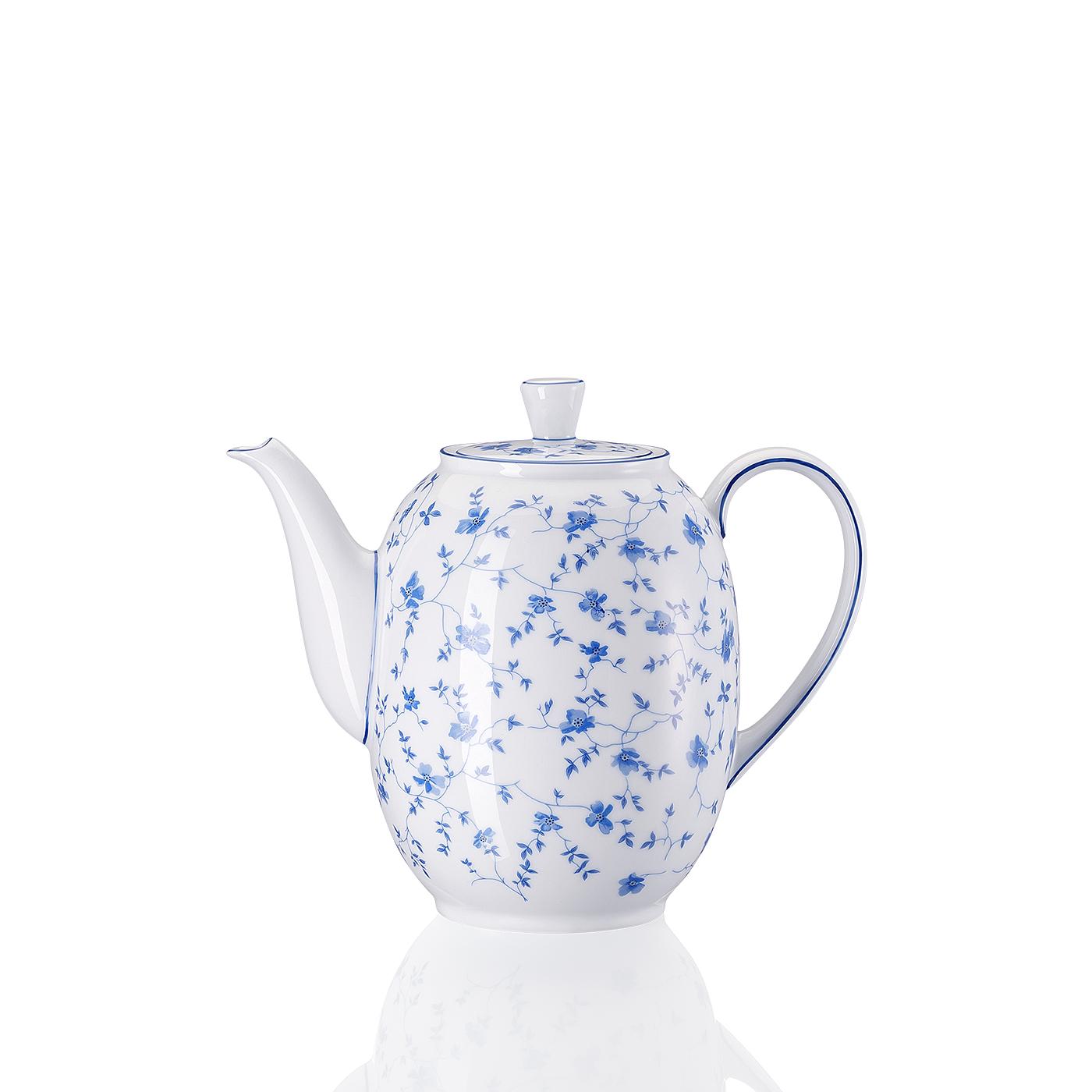 Kaffeekanne 6 P. Form 1382 Blaublüten Arzberg