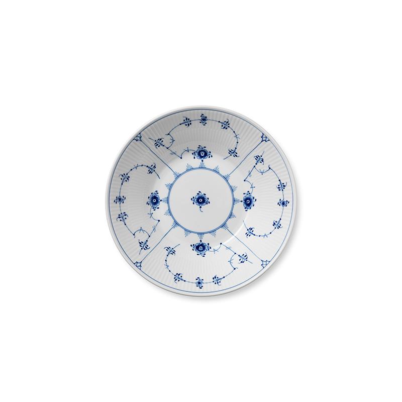 Pastateller - 24 cm Blue Fluted Plain Royal Copenhagen