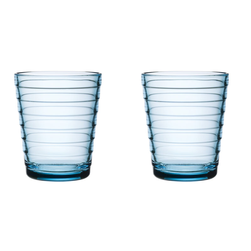 Glass - 330 ml - Hellblau - 2 Stück Aino Aalto Iittala