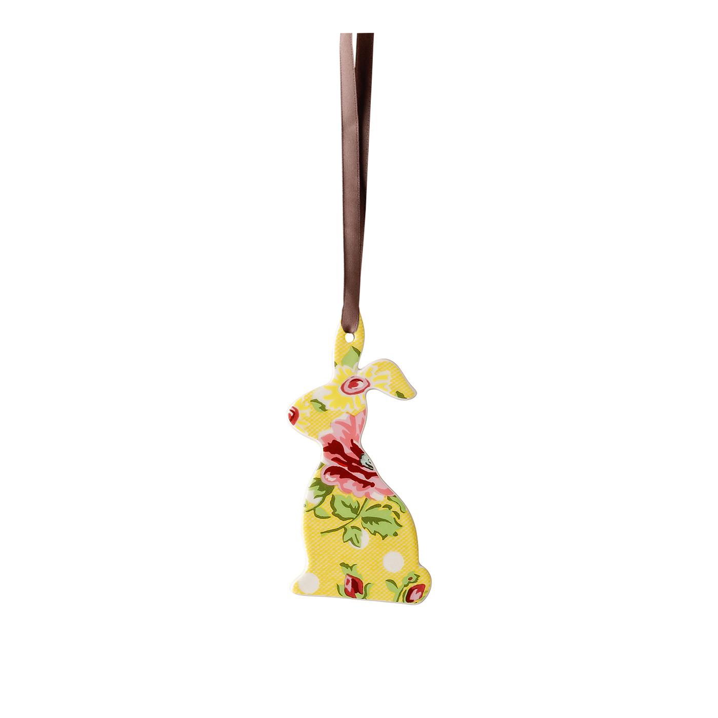 Anhänger Hase flach Springtime Flowers Sun Hutschenreuther