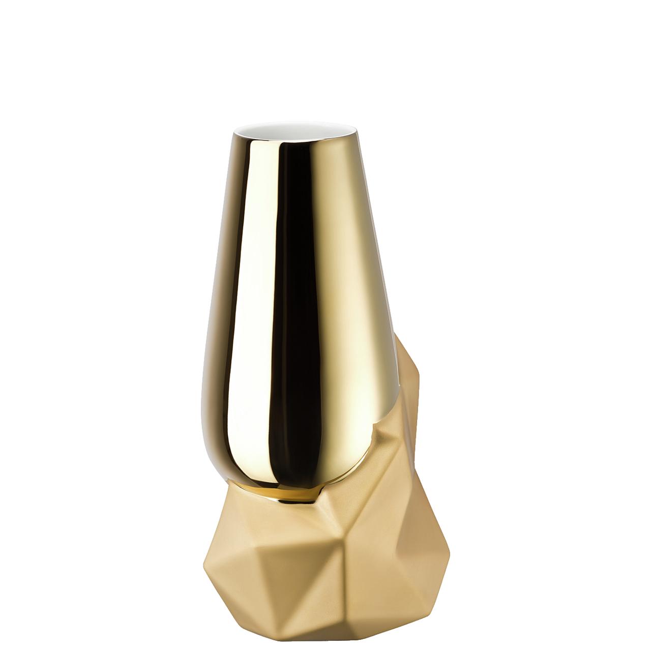 Vase 27 cm Geode Gold titanisiert Rosenthal Studio Line