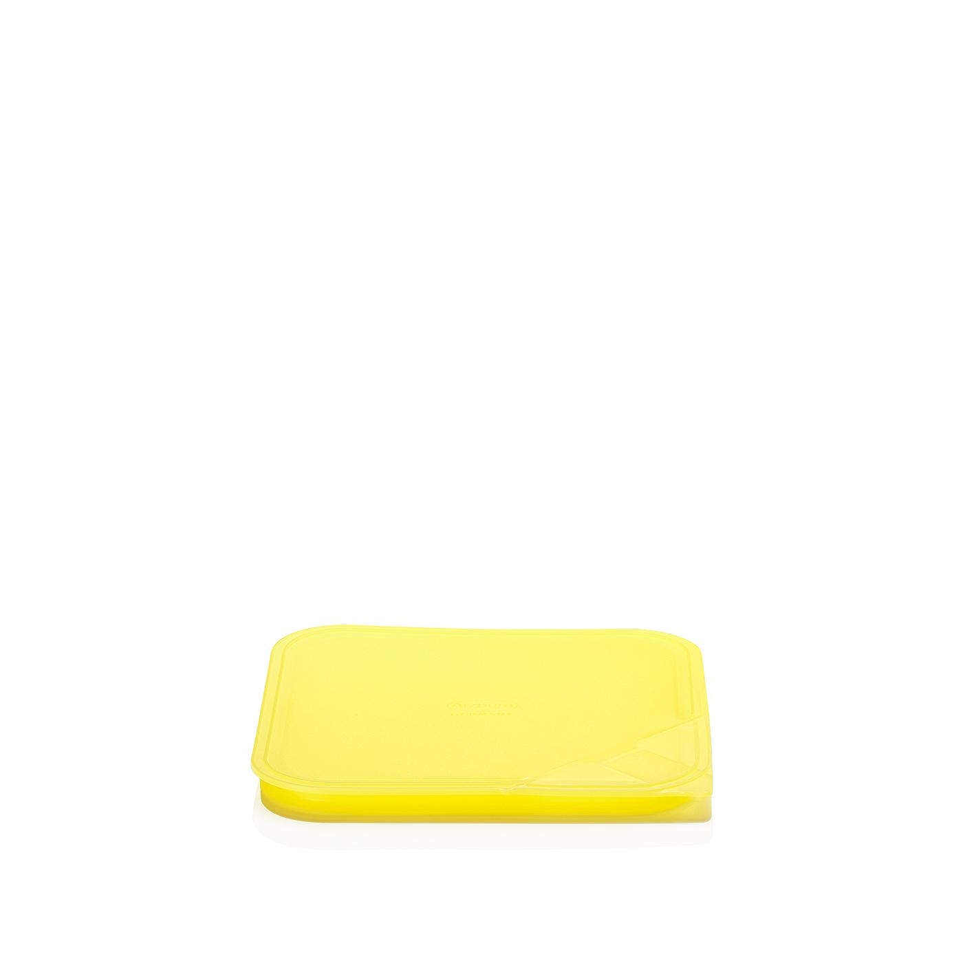 Aromadeckel quadratisch 18 cm Küchenfreunde Kunststoff gelb Arzberg
