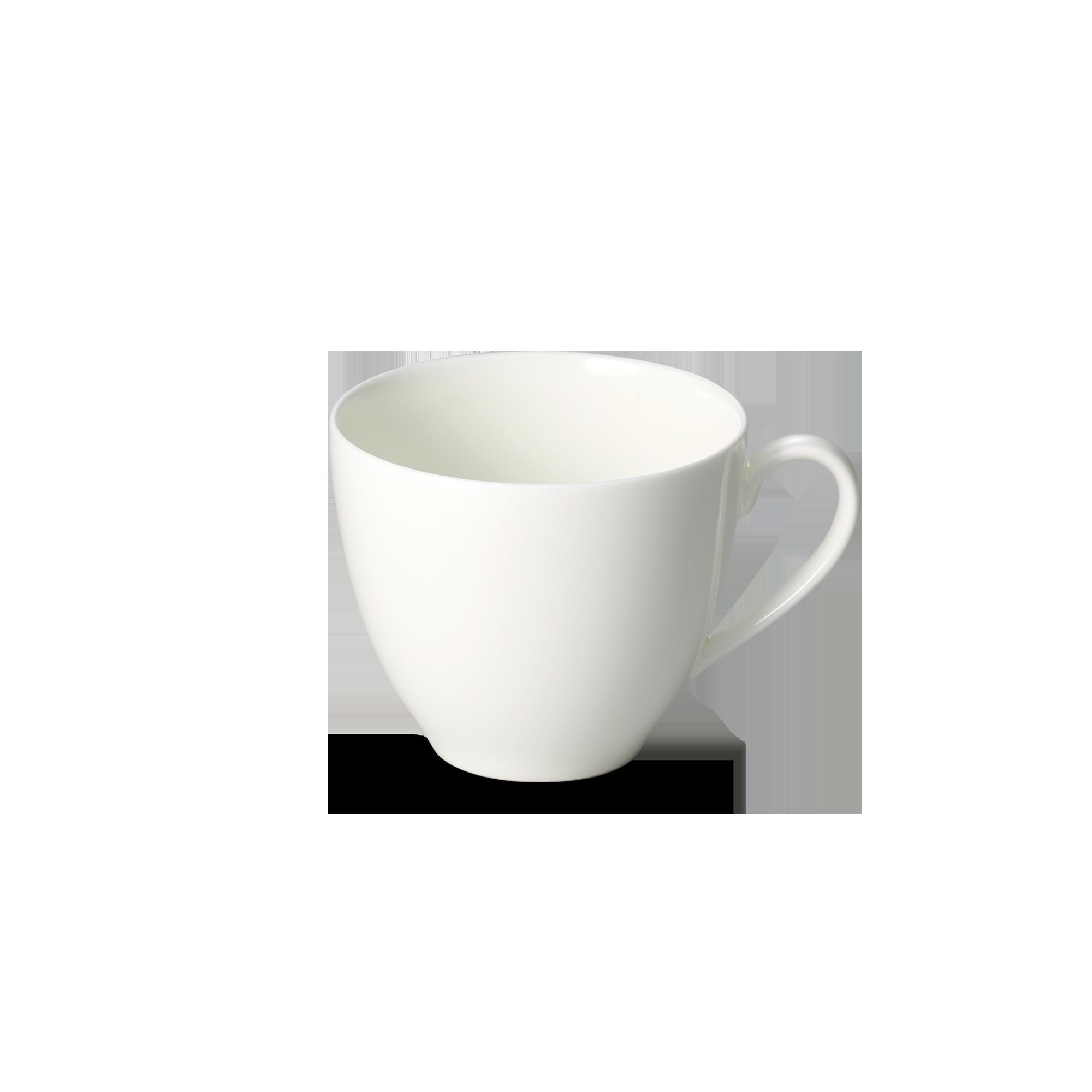 Café au Lait Obertasse 0,35 l Fine Bone China Coupe Weiss Dibbern