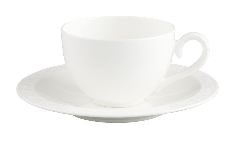 Kaffee-/Teetasse mit Untertasse 2tlg. White Pearl Villeroy und Boch