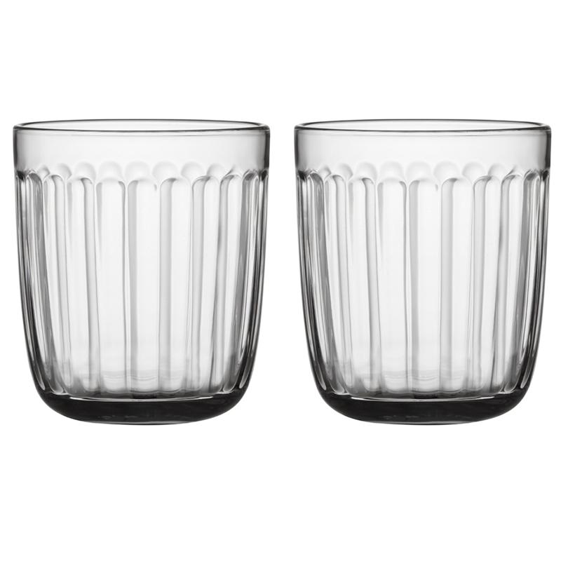 Glass – 260 ml - Klar - 2 Stück Raami Gläser Iittala