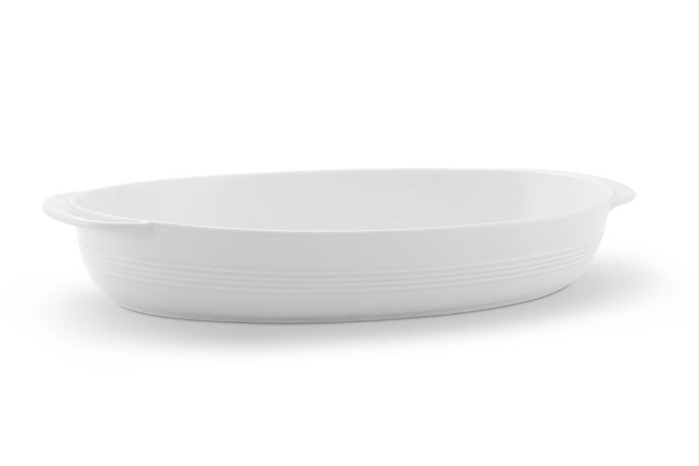 Auflaufschale oval 37x23,5 cm Jeverland Weiß Friesland Porzellan