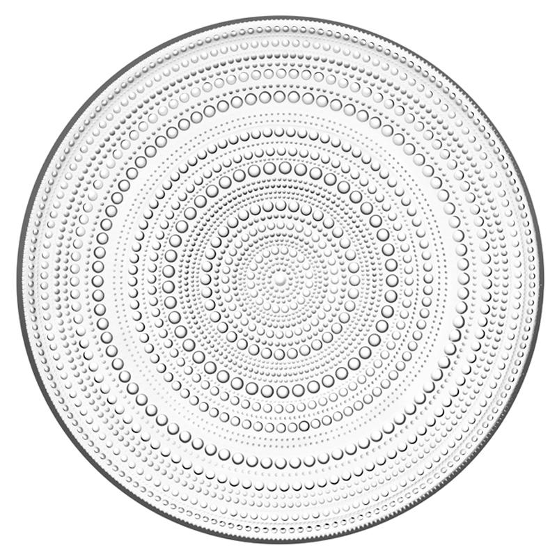 Teller – 31,5 cm - Klar Kastehelmi Iittala