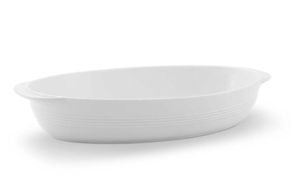 Auflaufschale oval 33,5x20,5 cm Jeverland Weiß Friesland Porzellan