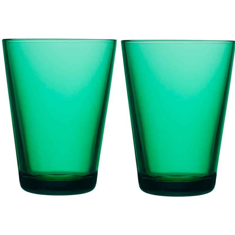 Glass – 400 ml - Emerald - 2 Stück Kartio Iittala