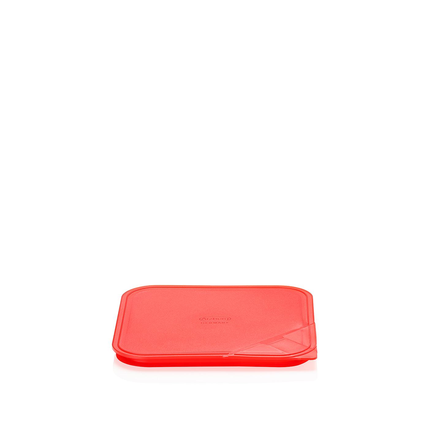 Aromadeckel quadratisch 18 cm Küchenfreunde Kunststoff rot Arzberg