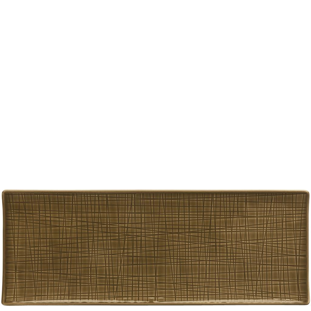 Platte flach 34x13 cm Mesh Colours Walnut Rosenthal