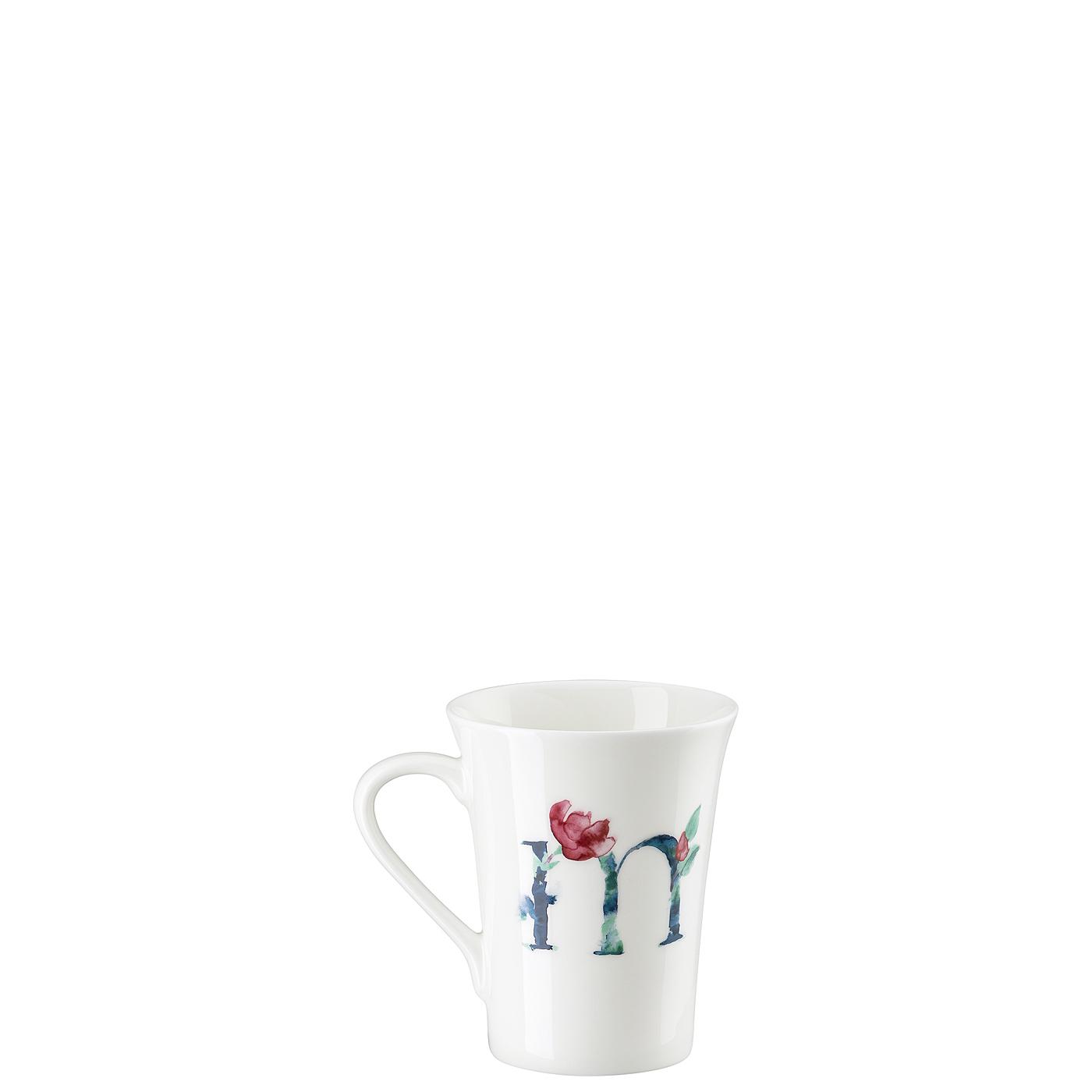 Becher mit Henkel Flower Alphabet M-Magnolia Hutschenreuther
