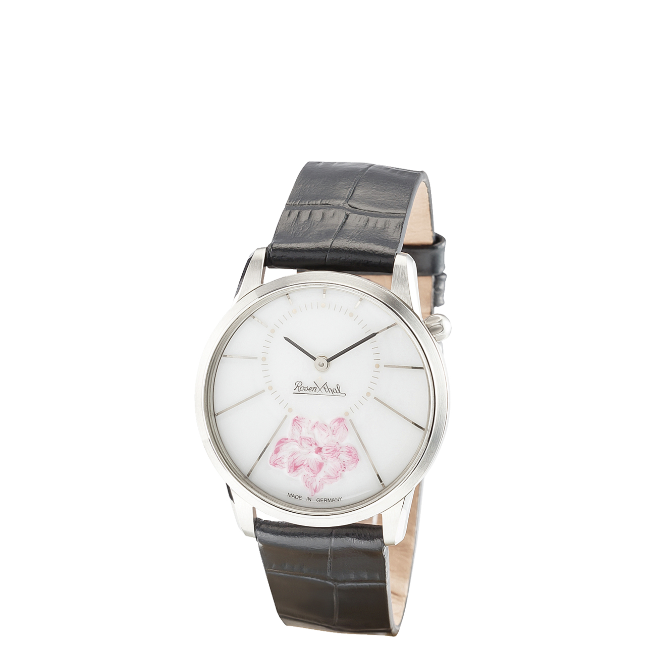Damen-Armbanduhr Watch 3035/ChBlossom silver-rose-black Rosenthal