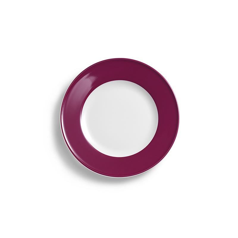 Teller flach 19 cm Fahne Solid Color Bordeaux Dibbern